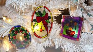 christmas craft stained glass shrinking plastic ornament youtube