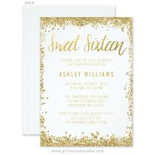 sweet 16 invitations sweet 16 birthday party invitations print creek studio inc