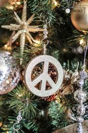 this its a peace sign ornament out of craft foam glue and