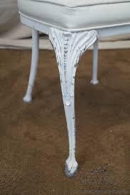 Vintage Cast Aluminum Patio Furniture - vintage cast aluminum dining table u0026 chairs patio set by molla