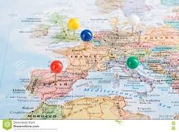 Travel Map Of Europe by Europe Map Pins Travel Stock Photo Image 73160296