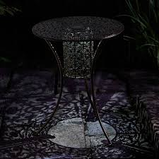 Led Bistro Table Smart Garden Solar Illumina Silhouette Patio Bistro Table Light