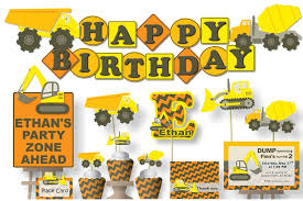 truck birthday party construction truck birthday party or baby shower decorations