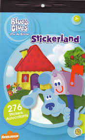 nickelodeon blue u0027s clues 276 stickers stickerland sticker pad