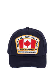 Canadian Flag Patch Dsquared Collection Dsquared2 Canadian Flag Canvas Baseball Cap
