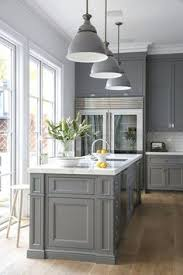 Look We Love Gray Kitchen Cabinets With Brass Hardware  Kitchen - Gray kitchen cabinets