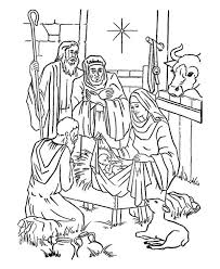 adorations shepherds bible christmas story coloring pages