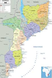 France Physical Map by Mozambique Map