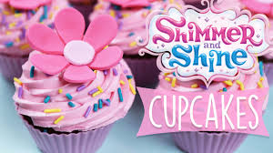 shimmer and shine cupcakes diy youtube