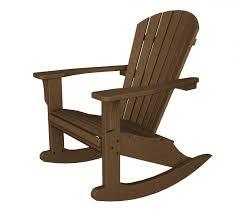 Polywood Outdoor Furniture Reviews by Polywood Seashell Adirondack Rocker