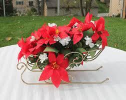 sleigh centerpiece etsy