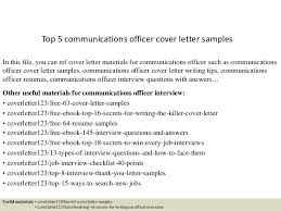 Samples Of Resume Cover Letters by Top 5 Communications Officer Cover Letter Samples 1 638 Jpg Cb U003d1434874024
