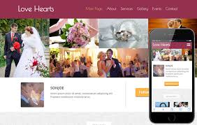 wedding planning website hearts a wedding planner flat bootstrap responsive web