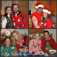 oh write everybody u0027s doing it the tacky sweater christmas party