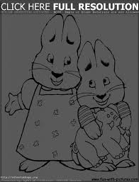 awesome collection of max and ruby coloring pages to print for