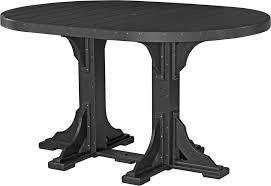 Luxcraft Fine Outdoor Furniture by Luxcraft 4 U0027 X 6 U0027 Oval Table Bar Height Amish Yard