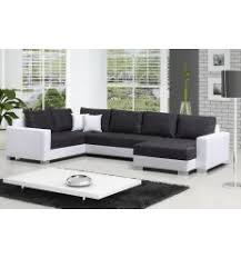 canapé d angle convertible cuir blanc canapé d angle convertible tomasi en simili cuir blanc et tissu gris