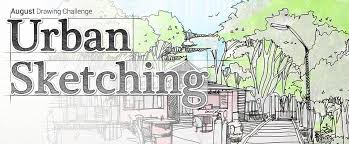 penup blog u2014 august challenge theme urban sketching