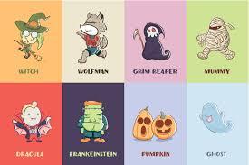 halloween illustrations cute halloween character illustrations creative market