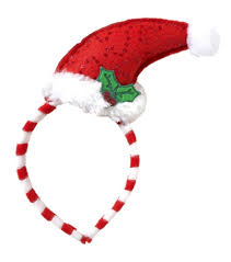 mistletoe hat mini curved santa hat with mistletoe on headband costume
