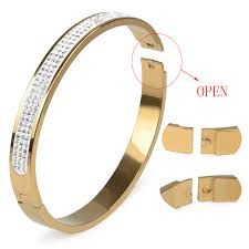 love bangle bracelet images 12 styles 3 rows rhinestone gold plated stainless steel bangle jpg
