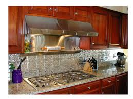 creative backsplash ideas for kitchens interior tin tiles for kitchen backsplash combined with brown