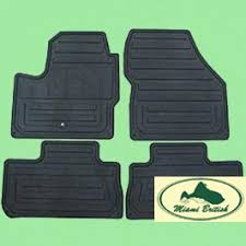 land rover rubber floor mats set kit lr2 08 10 oem miami