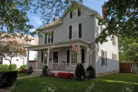 a colonial style house that can be found throughout the midwest