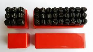 36pc letter number stamp punch set hardened steel metal wood