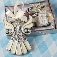 ornament favors shimmering angel ornaments communion and christening