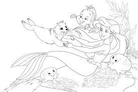 mermaids coloring pages coloringsuite