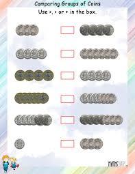 currency u2013 grade 1 math worksheets