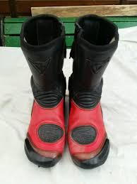 black leather motorcycle boots dainese red and black leather motorcycle boots size u k 10 in
