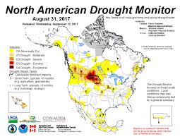Map Of Northern America by North American Drought Monitor Temperature Precipitation And