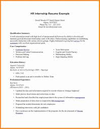 resume summary examples for college students resume sample internship resume examples top objective and internship cv format model resumed resume excellent hr sample professional experience and education history jpg for