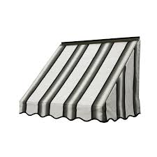 Awning Lowes Shop Nuimage Awnings 36 In Wide X 18 In Projection Grey Black
