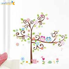 Owl Nursery Wall Decals by Free Shipping Zooyoo Original Owl Scroll Tree Hot Wall Decals