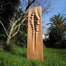 wood sculpture by sculptor liliya pobornikova titled
