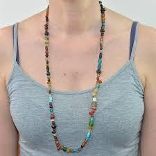 vintage beads necklace images Long strand asssorted vintage glass beaded necklace jpg