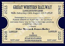 personalised vintage train ticket wedding invitations sold in