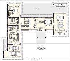 open space house plans plan 69619am 3 bed modern house plan with open concept layout