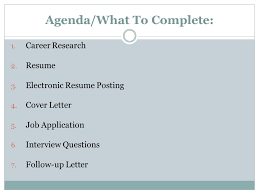 marketing i developing a agenda what to complete 1 career