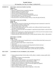 exle cv resume industrial painter resume sles velvet