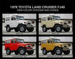1978 toyota land cruiser fj40 oem colors and codes ih8mud forum