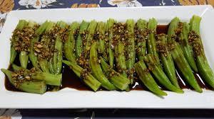 cuisiner le gombo recette chinoise assiette froide de gombos à la chinoise 凉拌秋葵