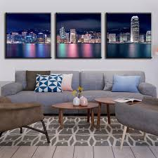 home decor hong kong aliexpress com buy new 3 pcs set landscape colorful night of