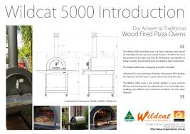 wildcat 5000 wood fired oven my pizza oven australias most