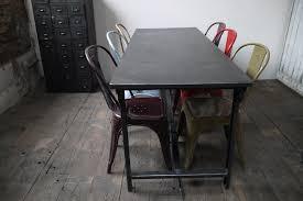 bureau militaire table ou bureau metal industriel des annees 50 militaire