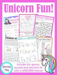unicorn treasure hunt game free printable growing play