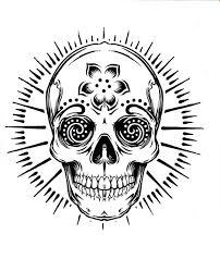sugar skull tattoo coloring pages printable